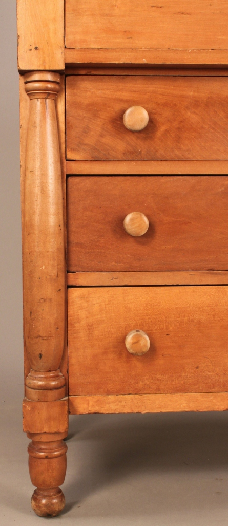 Lot 587: Late Sheraton Chest attrib. TN, signed