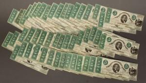 Lot 58: Grouping $5 Virginia Treasury Notes, 47 total