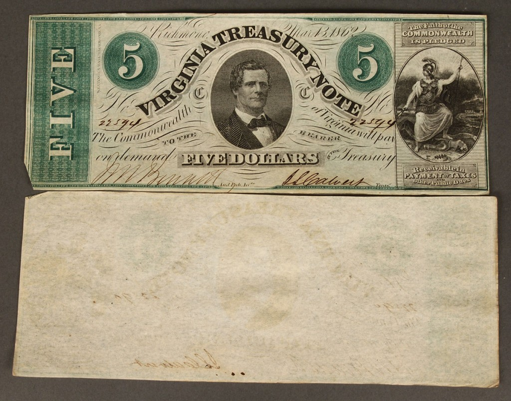 Lot 58: Grouping $5 Virginia Treasury Notes, 47 total