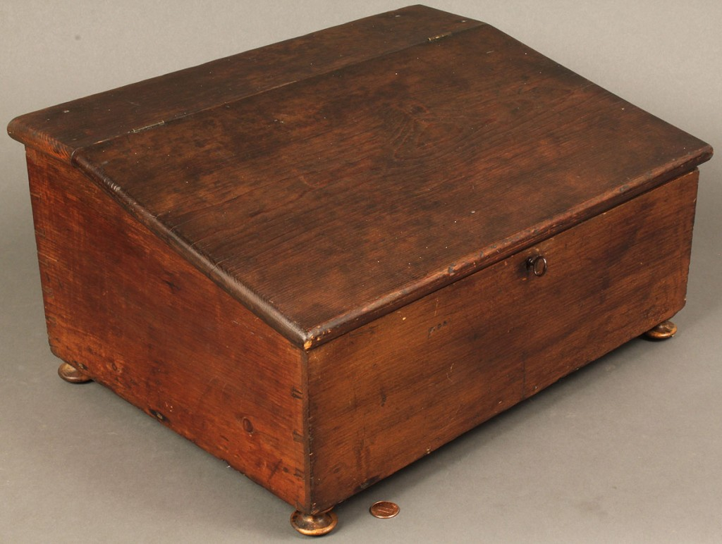 Lot 593: Dovetailed Document Box, early 19th century