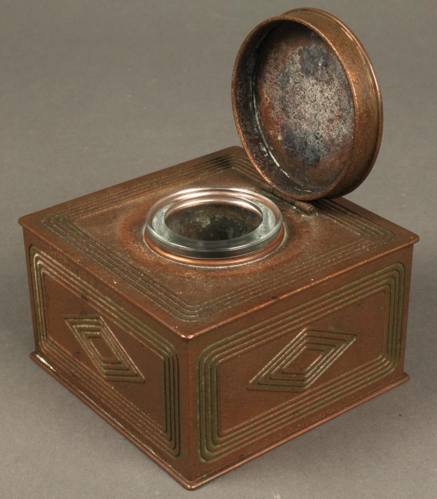 Lot 595: Tiffany Bronze Inkwell, Graduate Pattern