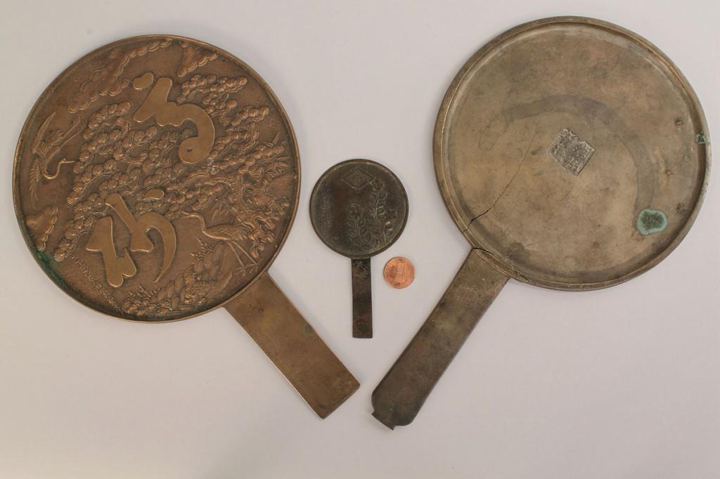 Lot 602: Lot of 3 Chinese Bronze Mirrors