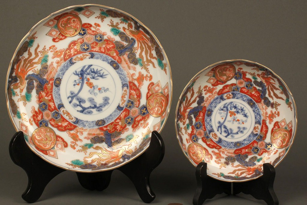 Lot 612: Assembled Set of Chinese Imari Porcelain, 10 piece