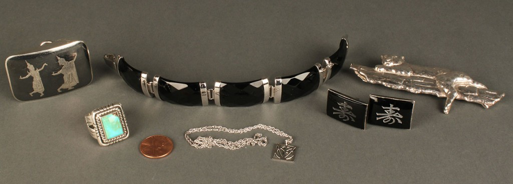 Lot 626: Grouping of Sterling Silver Jewelry, 5 items