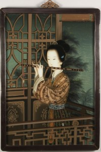 Lot 627: Chinese Reverse-Painted Portrait