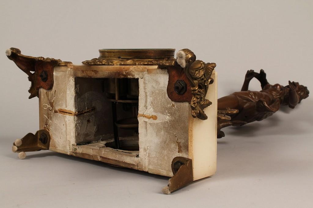 Lot 632: 3 Piece French Metal Garniture Set, after Moreau