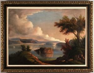 Lot 634: Hudson River School Oil, Attrib. Thomas Chambers