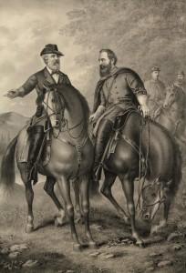 Lot 63: Civil War Print: Gen. Lee & Stonewall Jackson