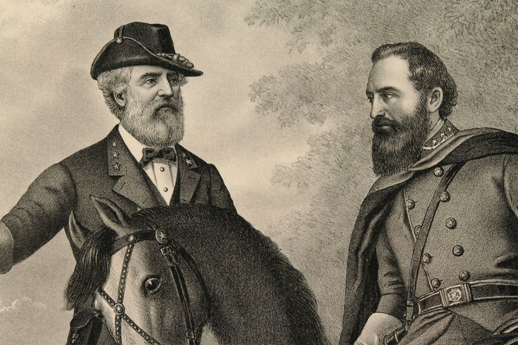 Lot 63: Civil War Print: Gen. Lee & Stonewall Jackson