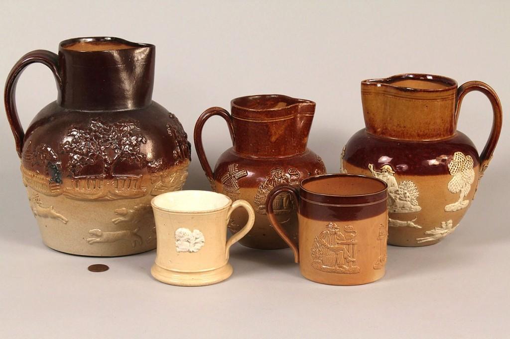 Lot 642: 5 pcs Doulton Lambeth Pottery