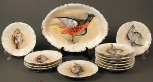 Lot 644: Limoges 13 Piece Porcelain Game Set