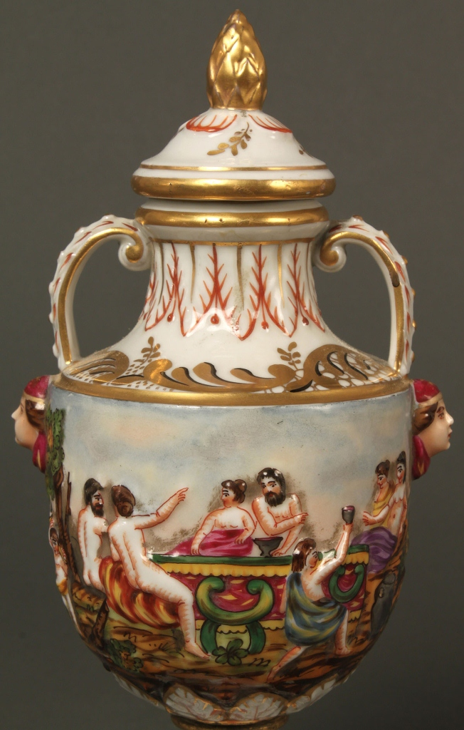 Lot 647: 3 Capidimonte porcelains, Germany & Italy marked