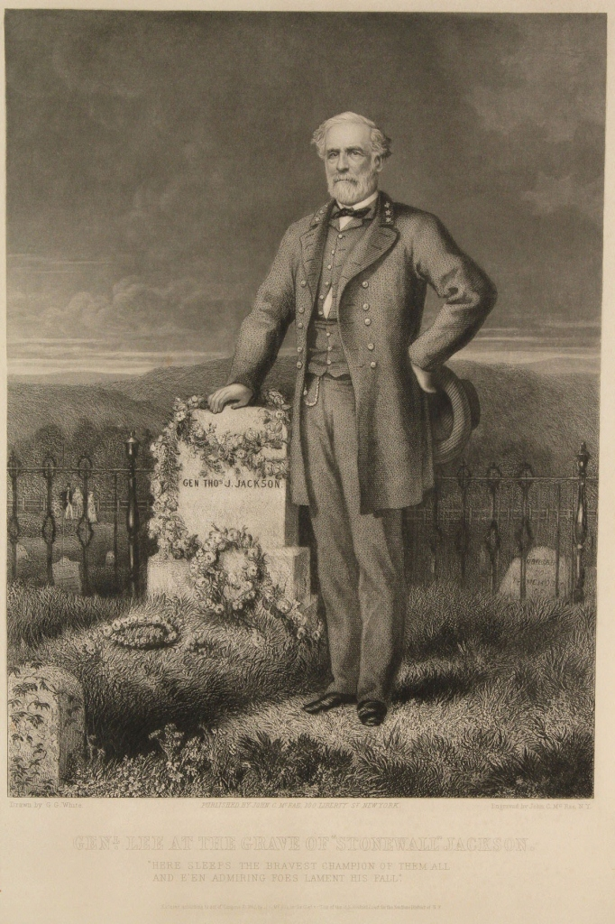 Lot 64: Print, Gen. Lee at the Grave of Stonewall Jackson