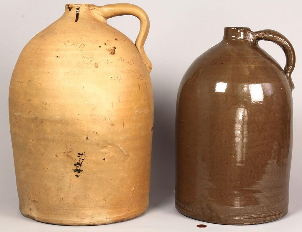 Lot 655: 2 Southern Stoneware Pottery Items