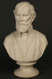 Lot 65: Parian bust of General Robert E Lee