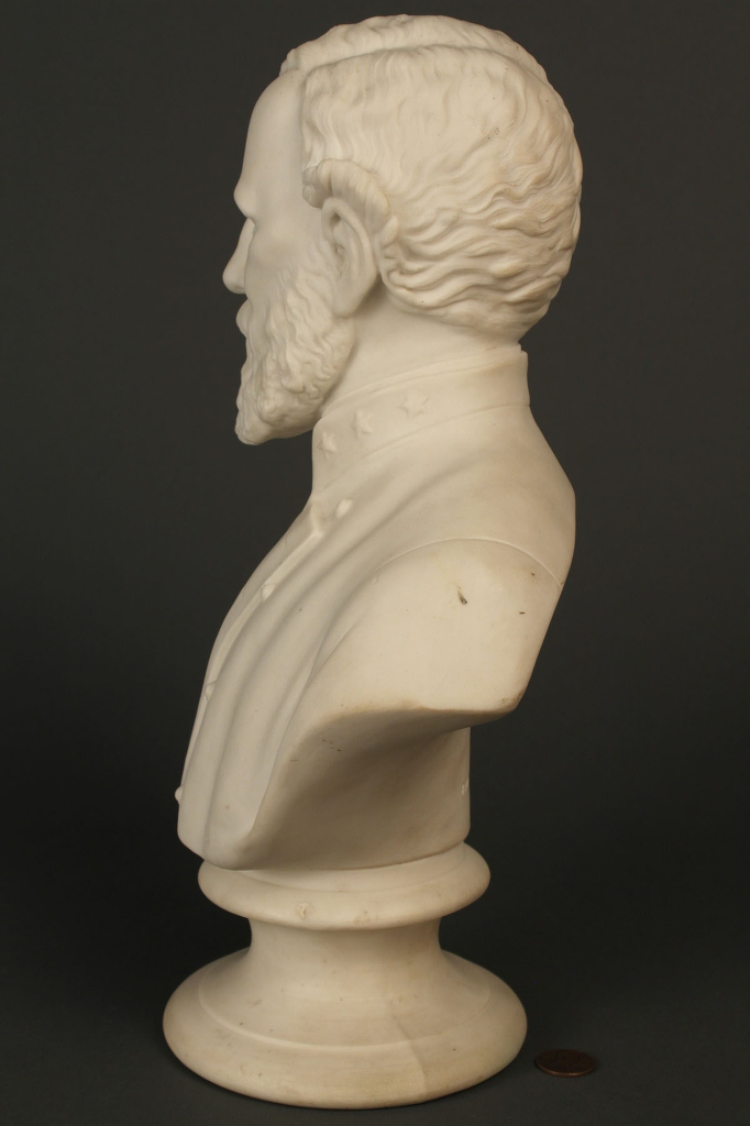 Lot 65: Parian bust of General Robert E Lee