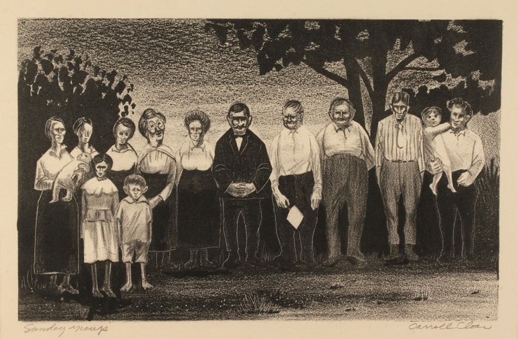 Lot 66: Carroll Cloar Lithograph, Sunday Group