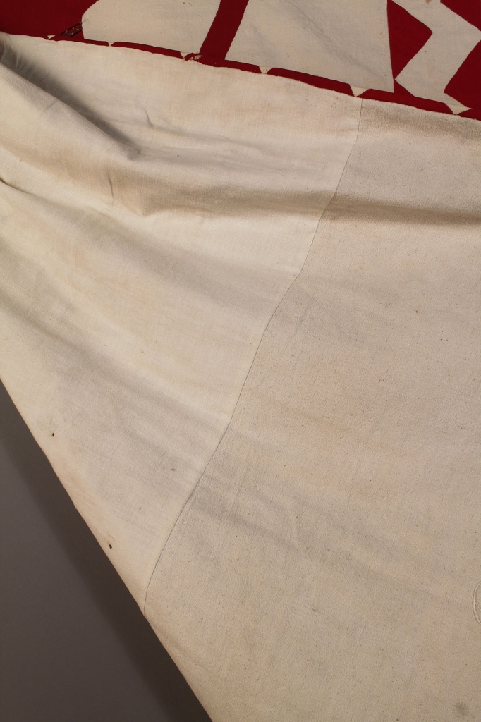 Lot 674: Applique quilt or wall hanging, Native American th