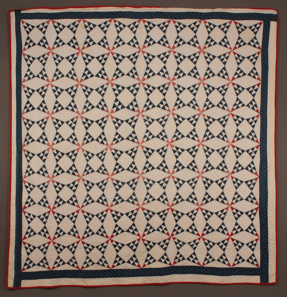 Lot 675: Red, White and Blue Star Quilt