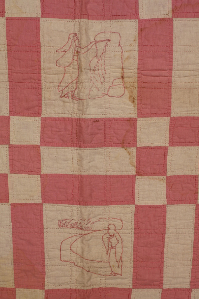Lot 677: Alabama Embroidered Bible Quilt