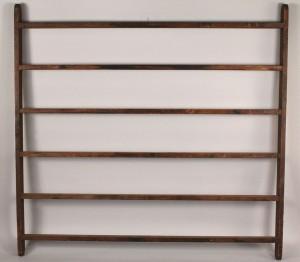 Lot 680: Antique hanging quilt rack