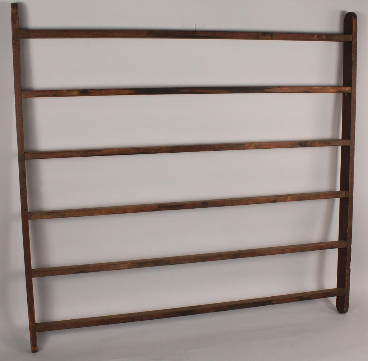 Lot 680 Antique Hanging Quilt Rack