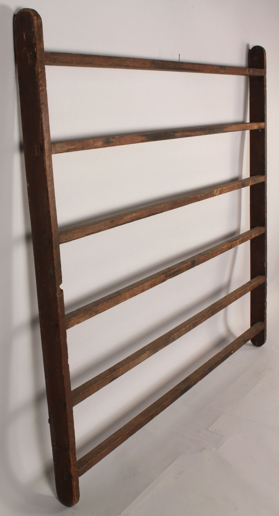 Lot 680: Antique hanging quilt rack