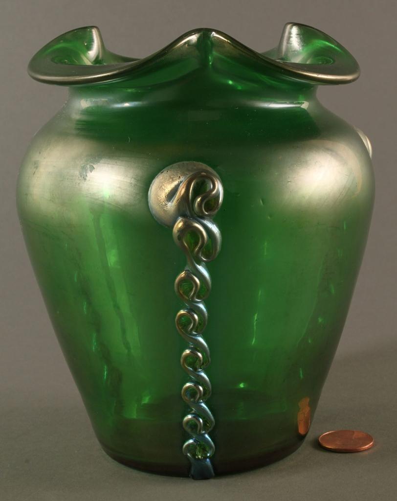 Lot 682: Austrian Art Glass Vase