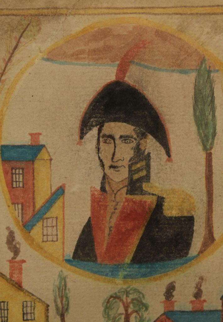 Lot 68: Folk Art Watercolor of General Andrew Jackson