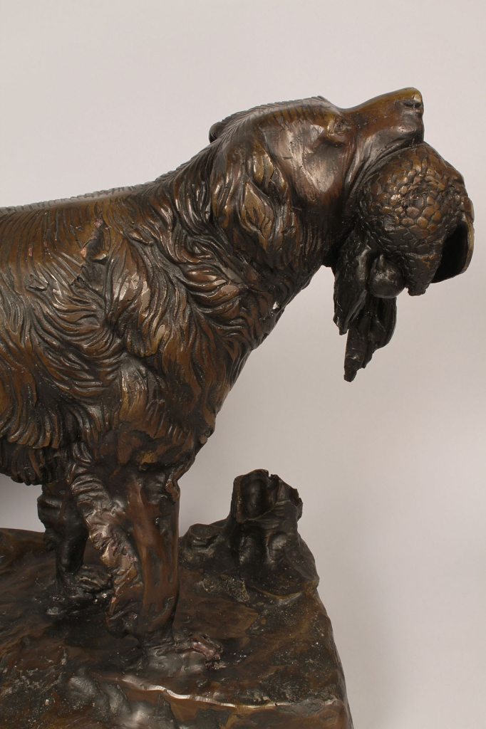 Lot 696: Bronze Sculpture of Setter after Jules Moigniez