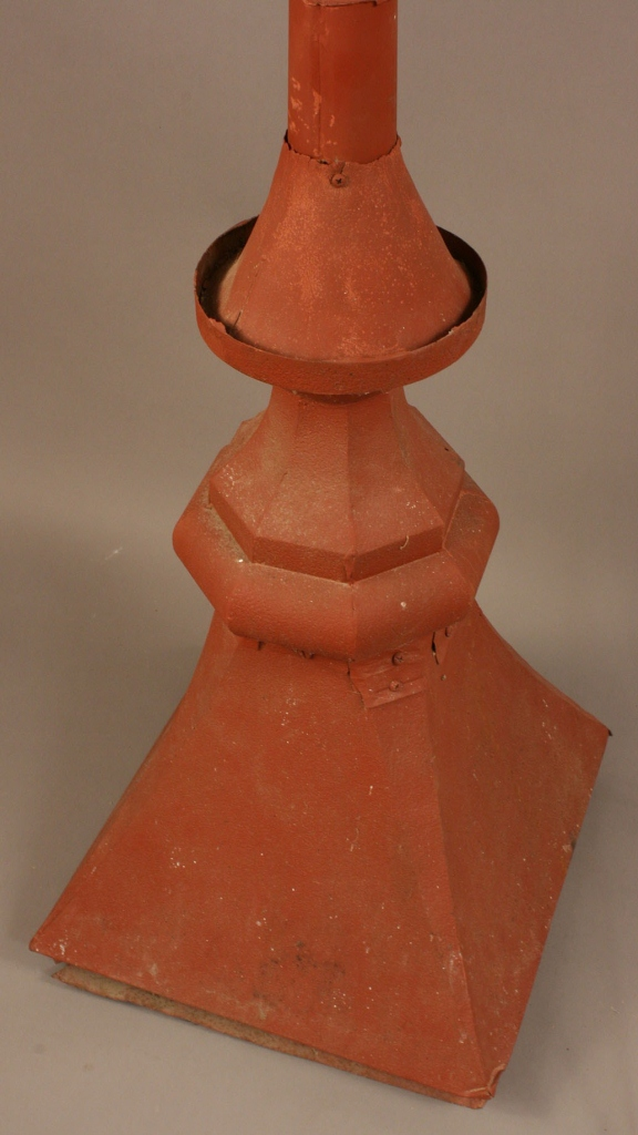 Lot 703: Painted Zinc Roof Ornament and Lighting Rod