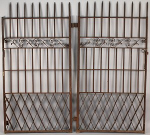 Lot 705: Pair of Wrought Iron Gates