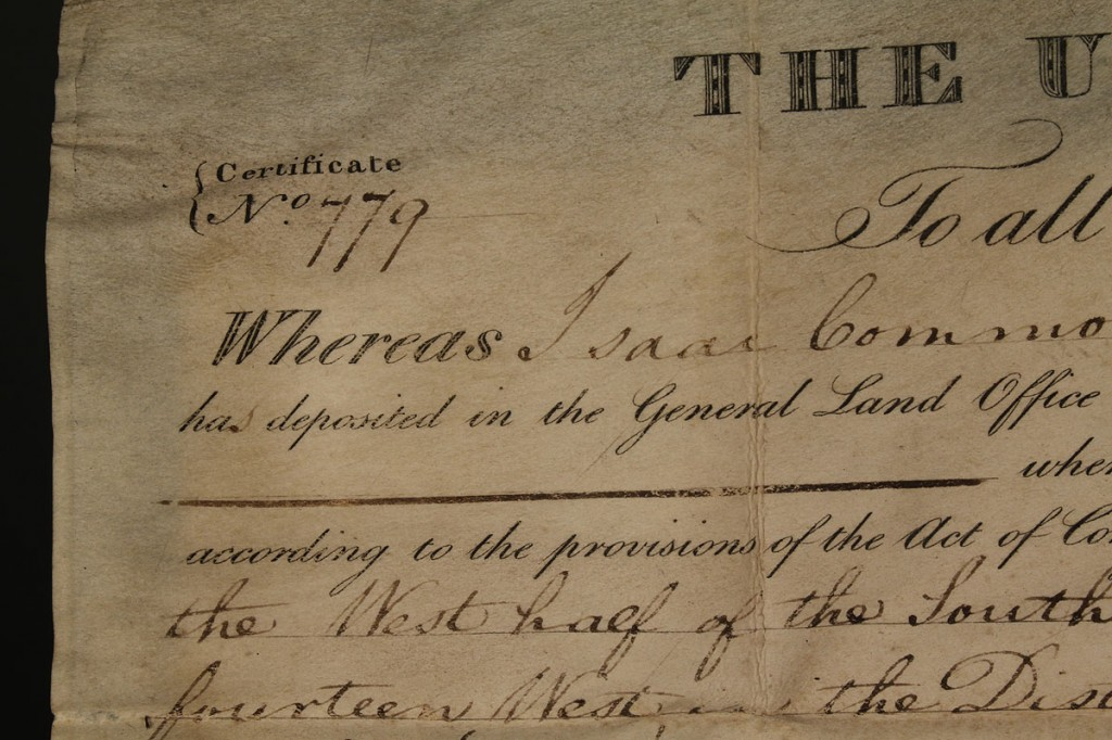Lot 70: Andrew Jackson signed land grant, 1830