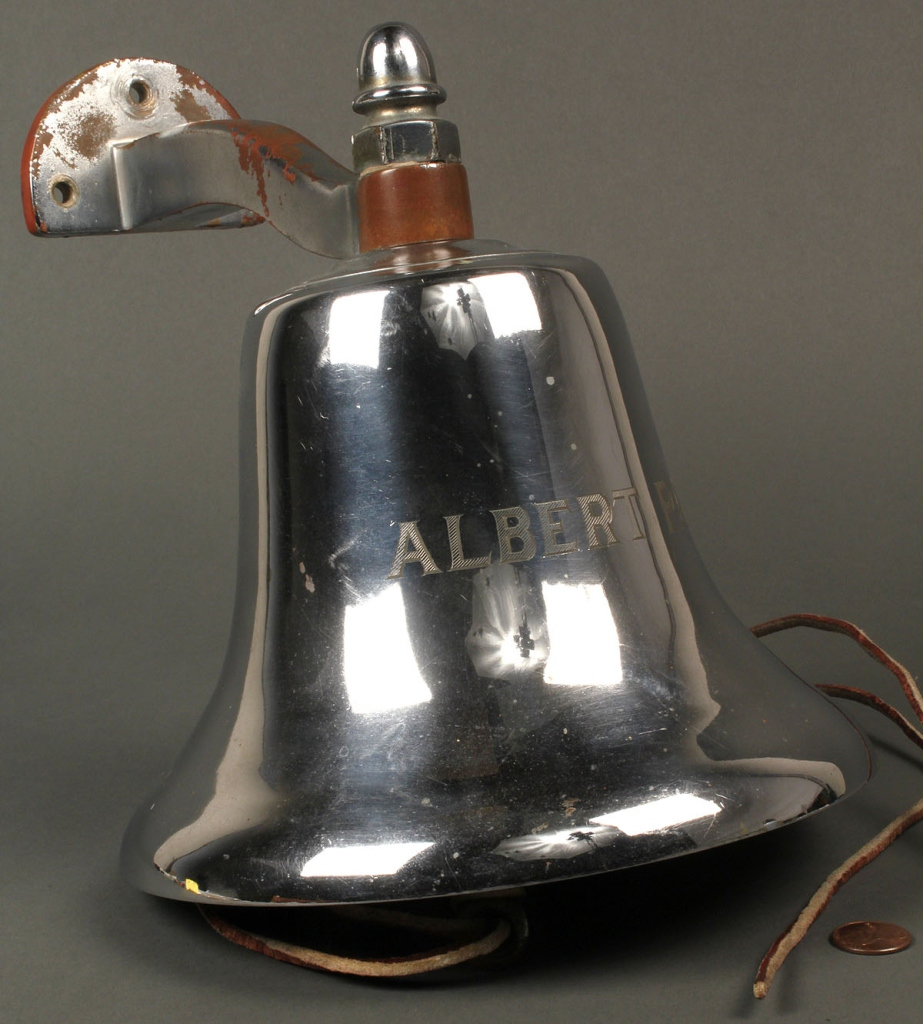 Lot 710: Nautical Ship's Bell, Albert Pack