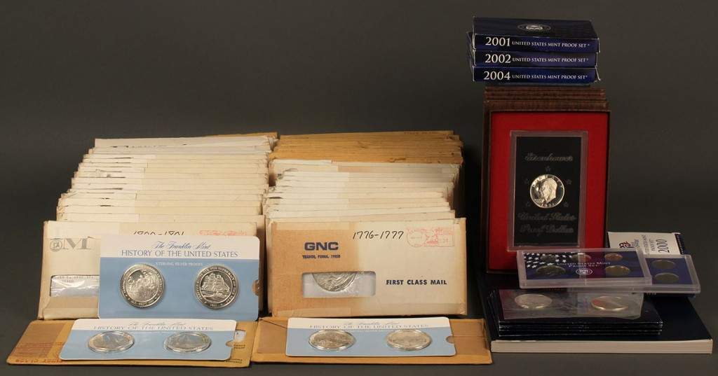 Lot 711: History of US sterling proofs with US Mint proofs
