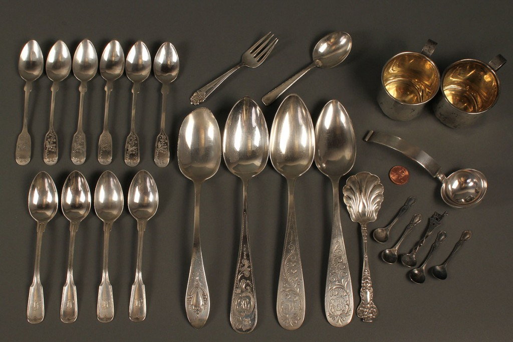 Lot 716: Assorted Grouping of Sterling Silver Flatware