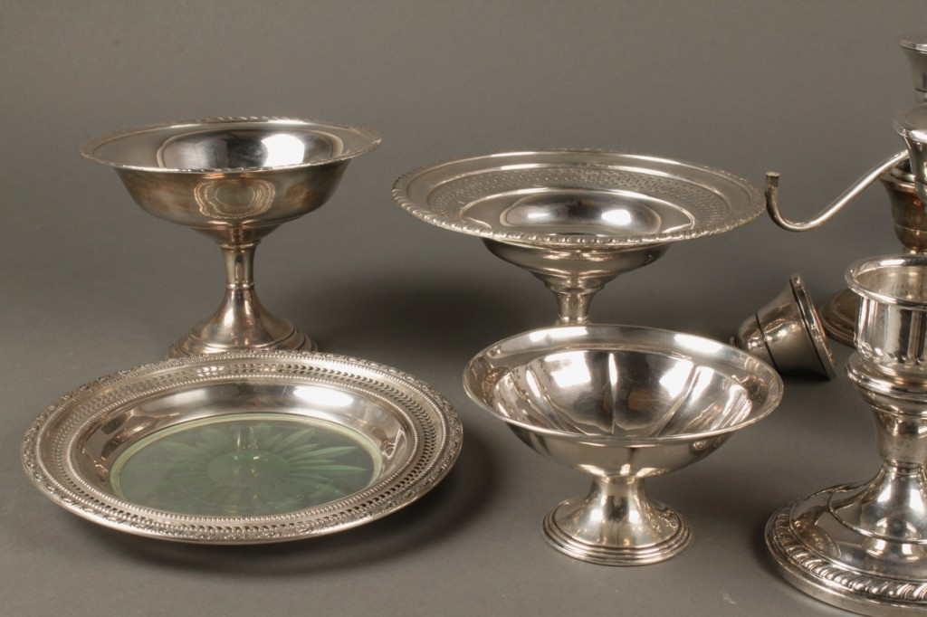 Lot 720: Lot of Sterling Silver Table Items