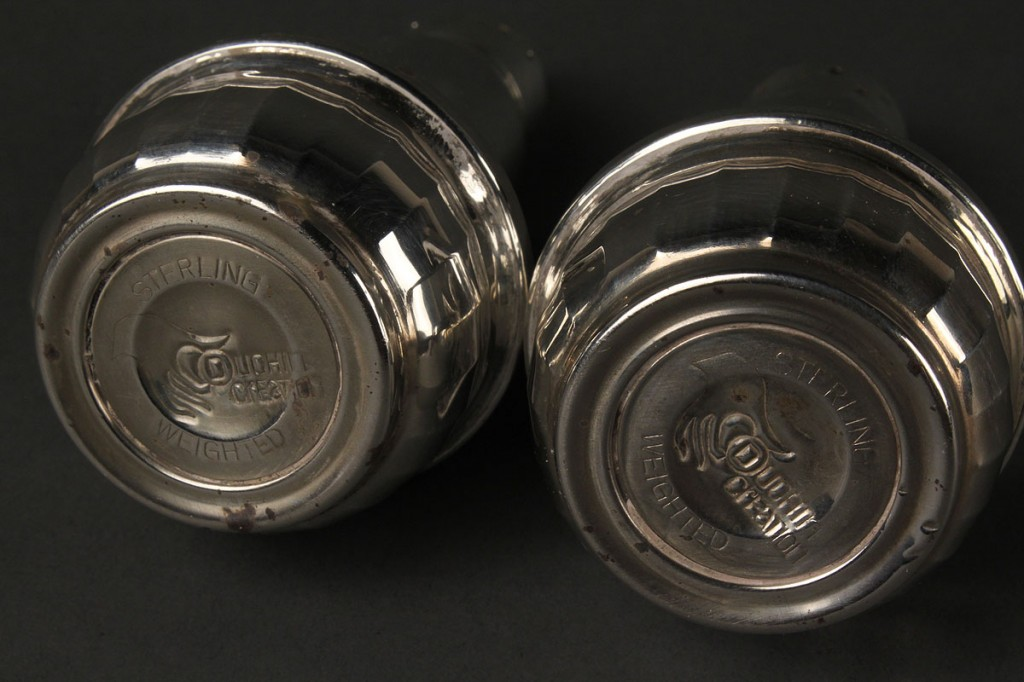 Lot 721: Five Sterling Silver Table Items