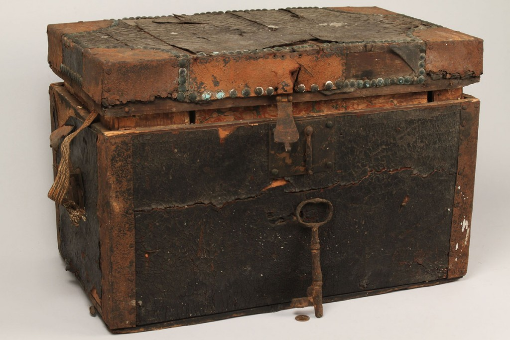 Lot 72: War of 1812 Campaign Chest w/contents, Maj. Christ
