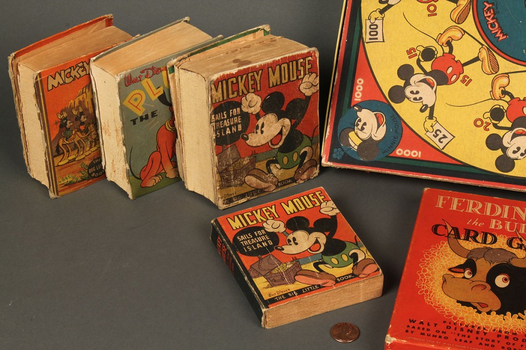 Lot 738: Grouping of Mickey Mouse Related Toys and Books