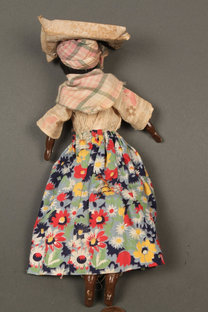 Lot 741: 8 African-American Dolls including Vargas wax figu