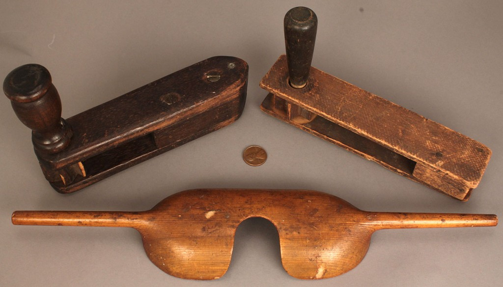 Lot 742: Lot of Three Wooden Items inc. noisemakers