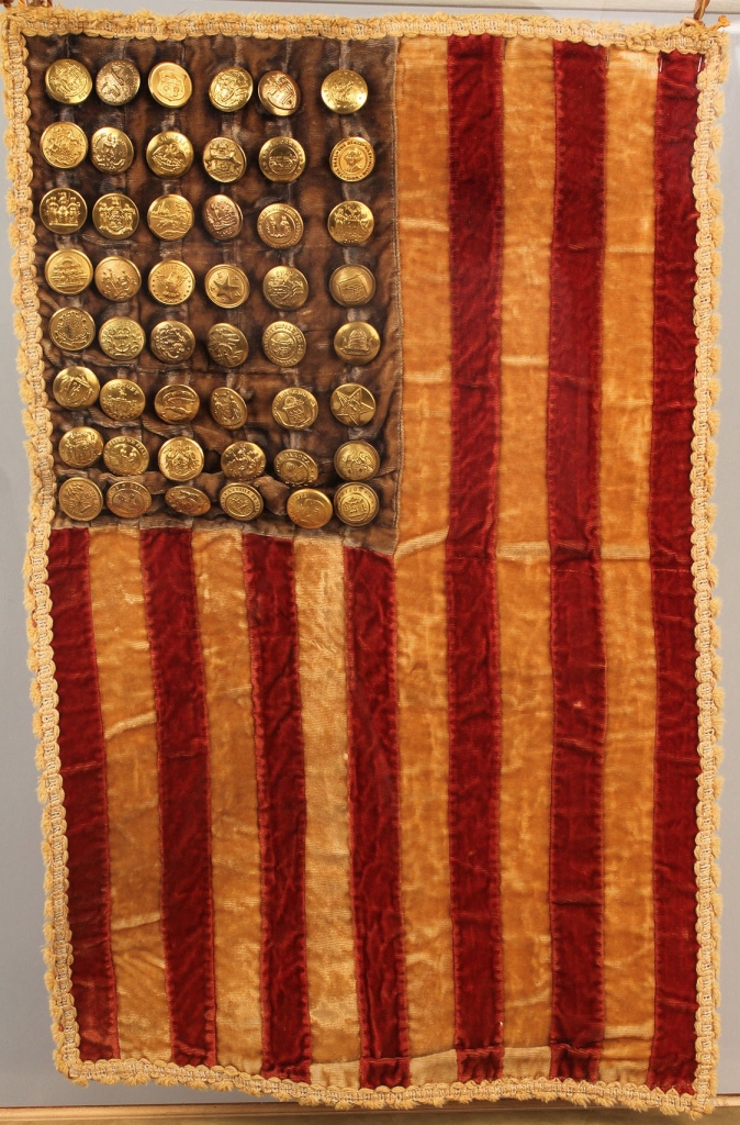 Lot 78: Display flag with state button stars