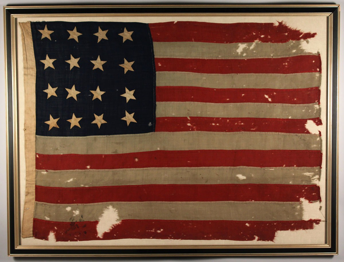 Framed Antique American Flag | Best 2000+ Antique decor ideas