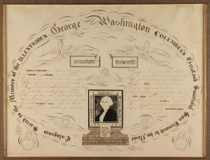 Lot 83: Calligraphy memorial to George Washington