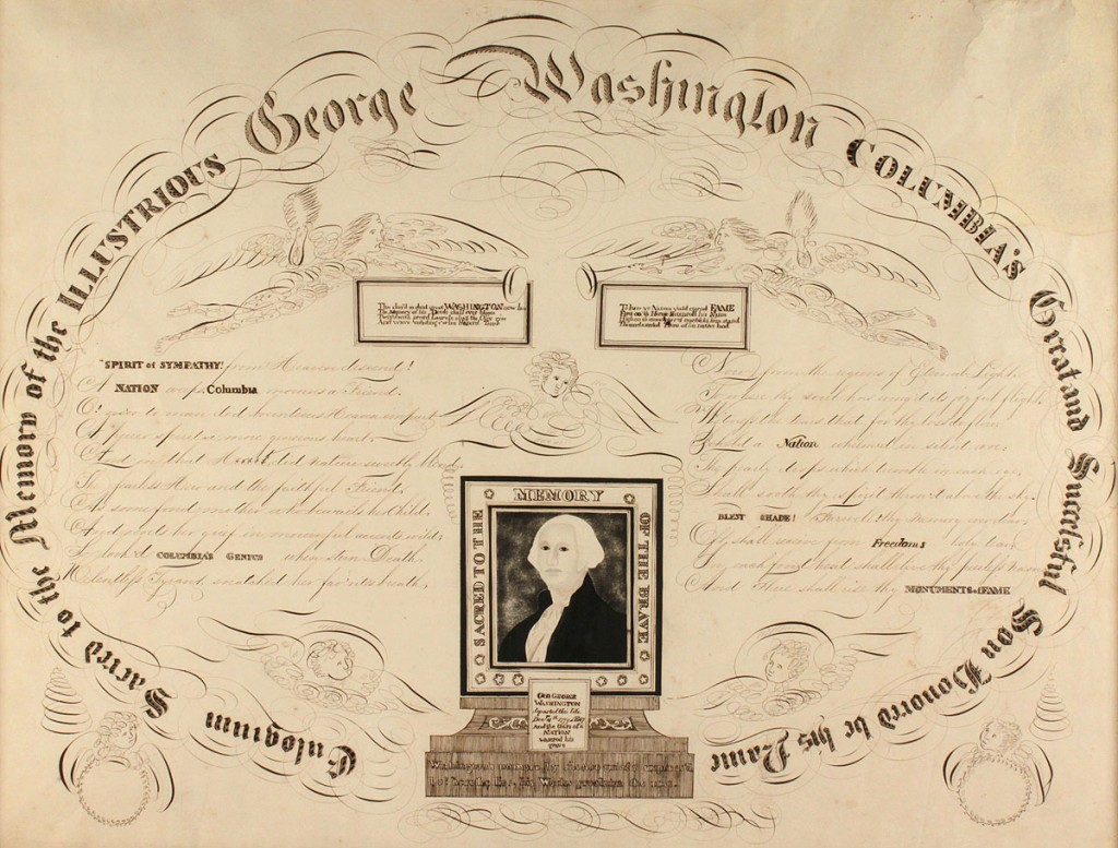 Lot 83 Calligraphy Memorial To George Washington