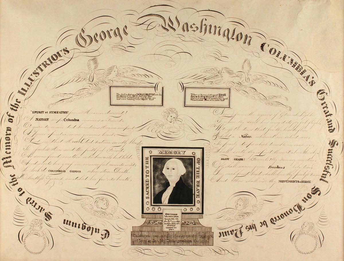 Lot 83 Calligraphy Memorial To George Washington