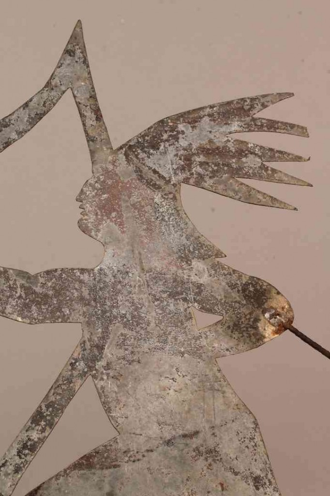 Lot 85: Weathervane, Native American with bow and arrow