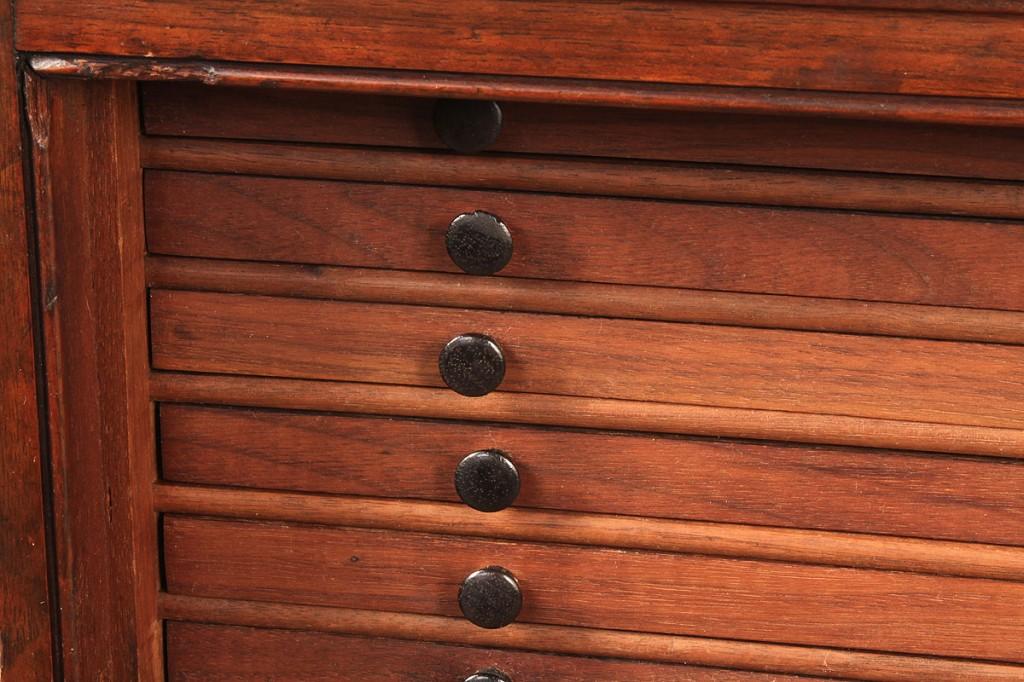Lot 95: Mahogany Collector's Cabinet, 19th c.