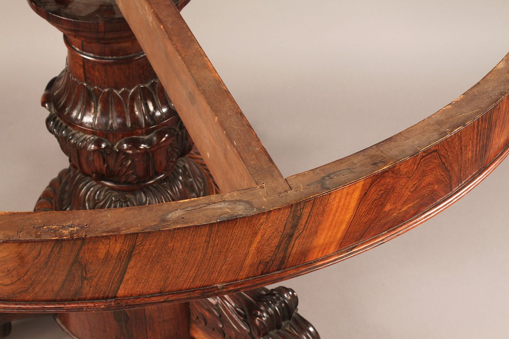 Lot 97: American Classical Center Table with Marble Top